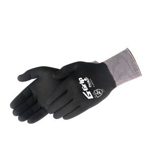 Liberty Gloves F4602 G-Grip Black Nitrile Micro-Foam Palm Glove with Fully Coated Back, Dozen