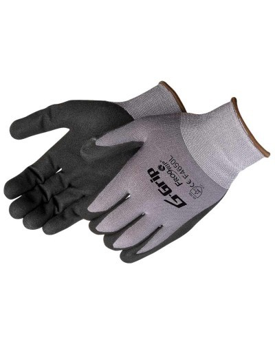 Liberty Gloves F4650 G-GRIP Black Sandy Nitrile Palm Coated Glove, Dozen
