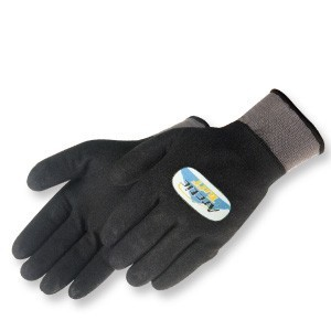 Liberty Gloves F4782 A-Grip Artic Tuff Fully Coated Black Latex Glove, with Heavy Thermal Lined, Dozen