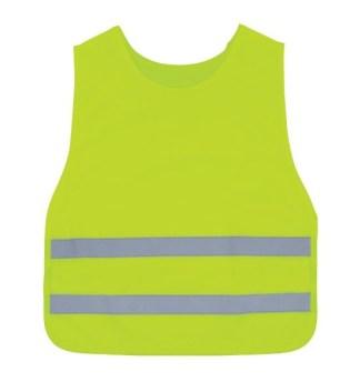 3A Safety K1000 Lime Round Neck Kids Vest