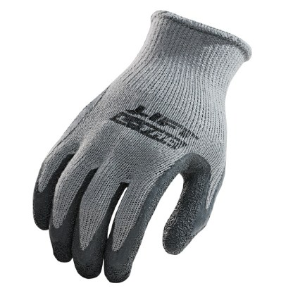 Palmer L-Tac GPL-10Y Gray Latex Coated Palm Glove, Pair