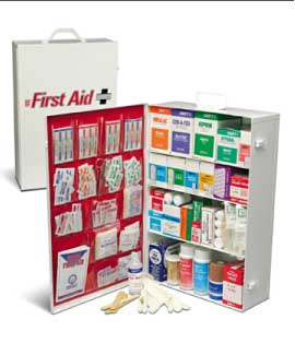 0614B ANSI 4 Shelf Class B Industrial First Aid Cabinet Type I & II 150 Person