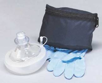 MDI 73-402 CPR MicroMask with Gloves and soft Case