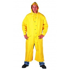 1228 Yellow PVC/Polyester 2-Piece Slicker