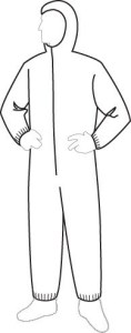 15127 PolyGard Light Weight Coverall with Hood, 25ct/case