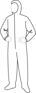 15122 PolyGard Light Weight Coverall with Hood & Boots, 25ct/caes