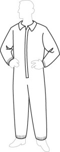 18125 PermaGard Coverall with Elastic Wrist & Ankles, 25ct