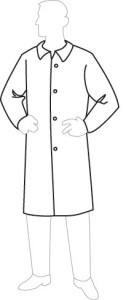 19300 ProGard Disposable Lab Coat, 30ct/case