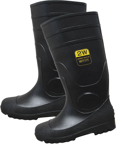 SPT-16 PVC Plain Toe High Boots