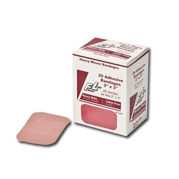 "ProStat 2071 Heavy Woven Patch Bandages, 2"" x 3"", 25/Box"