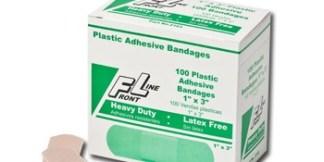 """ProStat 2163 Plastic Adhesive Bandages, 1"""" x 3"""", 100/Box"""