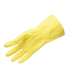 Liberty Gloves 2870I Economy 18 mil Yellow Household Latex Gloves, Dozen