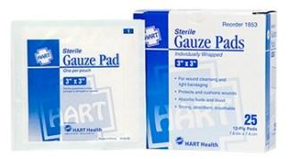 "Sterile Gauze Pads 3"" x 3"" 25/bx."