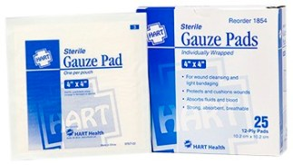 "Sterile Gauze Pads 4"" x 4"" 25/bx."