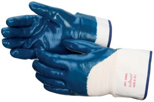 Liberty Gloves 9460 Smooth Finish Blue Nitrile Fully Coated Glove, Dozen