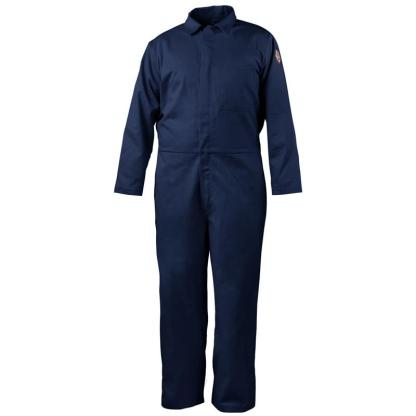 Black Stallion CF2117-NV  7 oz. Navy FR Cotton Coverall NFPA 2112 Rated