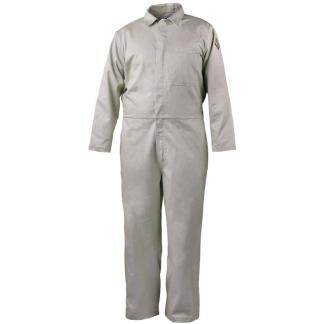 Black Stallion CF2117-ST 7 oz. Stone Khaki FR Cotton Coverall NFPA 2112 Rated