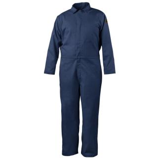 Black Stallion CF4017-NV 7 oz. 88/12 Flame-Resistant Coveralls, Navy Blue