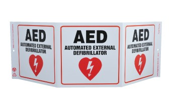 TRI-VIEW, AED AUTOMATED EXTERNAL DEFIBULLATOR, 7.5X20, RECYCLE PLASTIC - GW3055