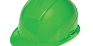 DURASHELL 4 POINT RATCHET SUSPENSION HI-VIZ GREEN HARD HAT