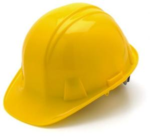 Yellow Hard Hat with 6 Point Pinlock Suspension