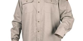 Black Stallion WF4010-ST 7 oz. 88/12 Flame-Resistant Work Shirt