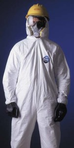 DuPont Tyvek Coveralls - Attached hood & boots, elastic wrists