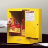 Sure-Grip EX Countertop and Compac Safety Cabinets for Flammables - 12-Gal. compac cabinet w/ manual close door