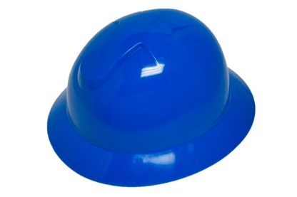 DURASHELL FULL BRIM 6 POINT PINLOCK SUSPENSION BLUE HARD HAT