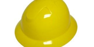 DURASHELL FULL BRIM 6 POINT RATCHET SUSPENSION YELLOW HARD HAT
