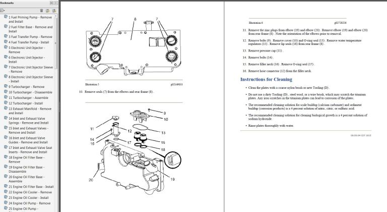 Caterpillar C32 Rny Marine Diesel Engine Service Manual