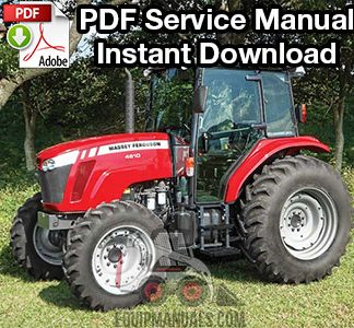 Massey Ferguson 4608, 4609, 4610 Tractor Repair Service Manual