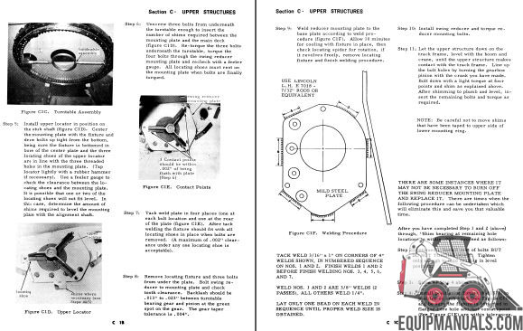 Case 1085C Cruz-Air Excavator Service Manual
