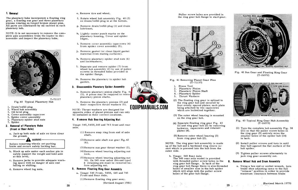 Fiat Allis 645B Wheel Loader Complete Service Manual