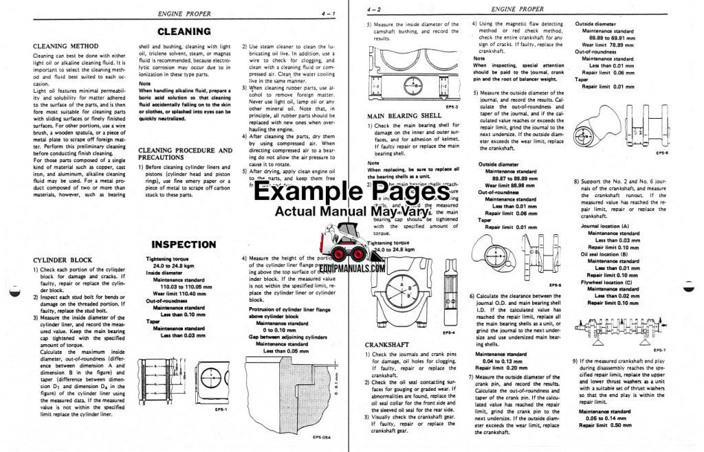 Nissan PE6, PE6T Diesel Engine Repair Shop Manual