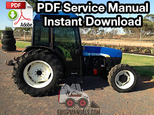 New Holland TN55, TN65, TN70, TN75 Tractor Shop Manual ... on