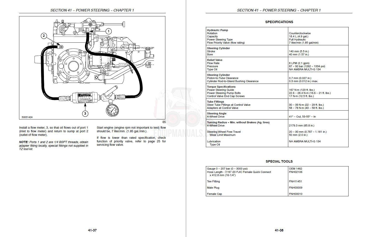 New Holland Tractor Wiring Diagram 110 7740 Tz18da Tz22da Tz24da Tz25da Repair Manual Battery