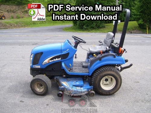 New Holland TZ18DA, TZ22DA, TZ24DA, TZ25DA Tractor Repair Manual
