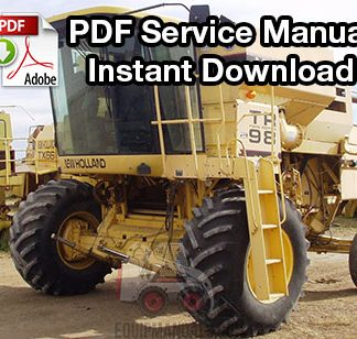 New Holland TR96, TR97, TR98 Combine Service Manual