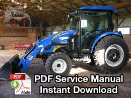 New Holland Boomer 4055, 4060 Tractor Service Manual