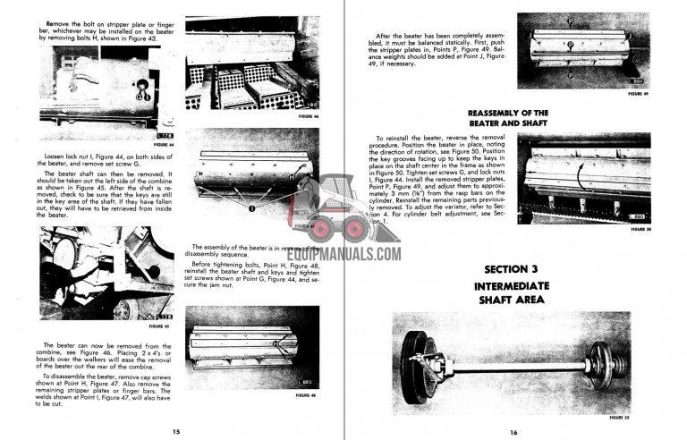 New Holland 1400, 1500 Combine Service Manual