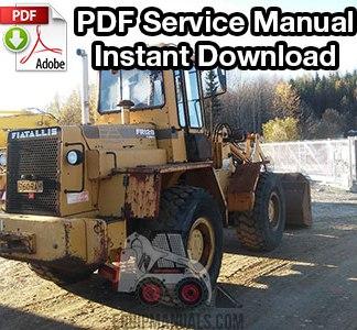 Fiat Allis FR12B Wheel Loader Service Manual