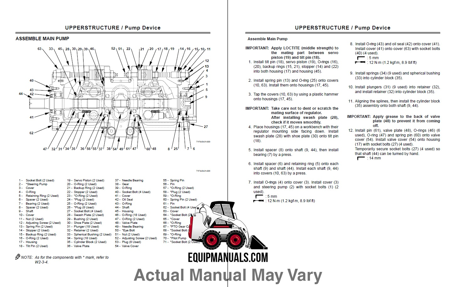 Fiat Allis FT110 Tractor Loader Backhoe Service Manual