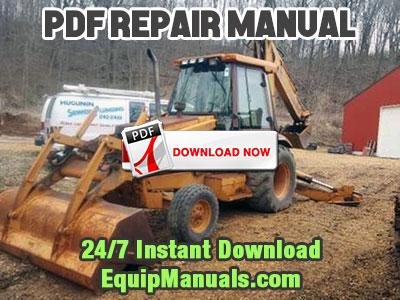 Case 580L, 580/590 Super L Tractor Loader Backhoe Service Manual