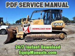 Case 1650L Crawler Dozer Service Manual