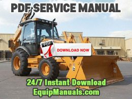 Case 580M, 590 Super M Series 3 Tractor Loader Backhoe Service Manual