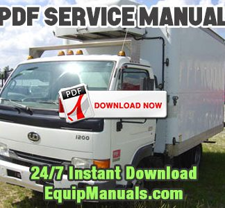 1999-2003 Nissan UD 1200, 1400 Truck Service Manual