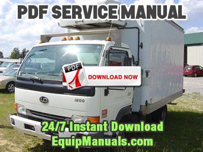 1999-2003 Nissan UD 1200, 1400 Truck Service Manual