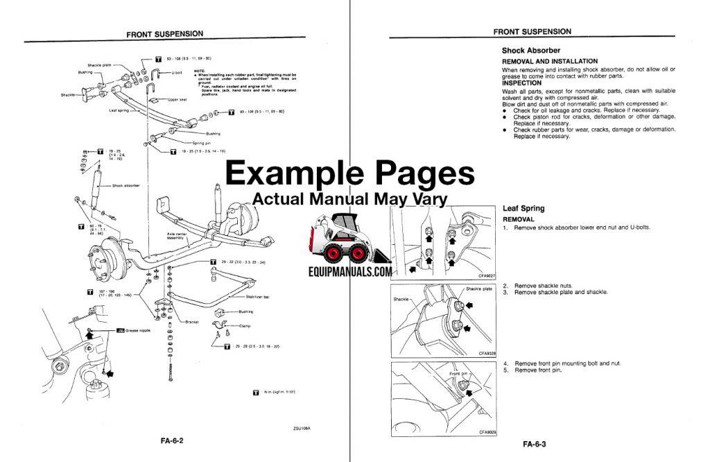 1999-2003 Nissan UD1200, UD1400 Truck Service Manual