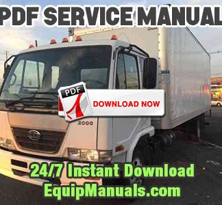 1999-2003 Nissan UD1800HD, UD2000, UD2300, UD2600, UD3000 Truck Service Manual